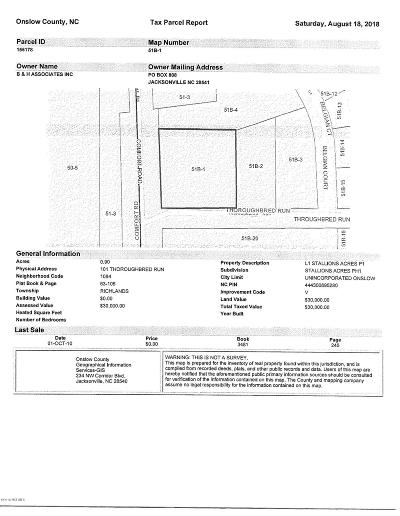 Richlands Residential Lots & Land For Sale: 101 Thoroughbred
