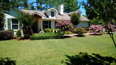 Calabash Single Family Home For Sale: 1199 Green Pasture Lane SW