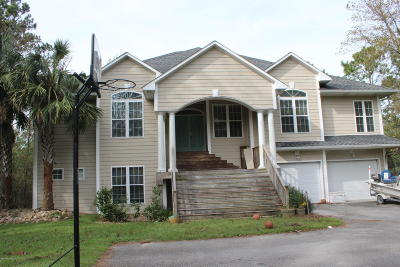 Swansboro Single Family Home For Sale: 155 Otway Burns Drive
