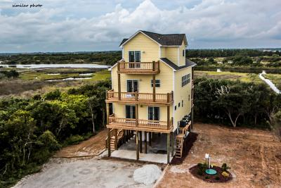 North Topsail Beach, Surf City, Topsail Beach Single Family Home For Sale: 1415 S Shore Drive