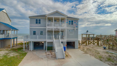 North Topsail Beach, Surf City, Topsail Beach Single Family Home For Sale: 1214 New River Inlet Road