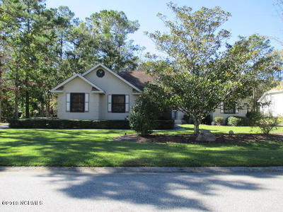 Ocean Isle Beach Single Family Home Active Contingent: 1643 Settlers Way SW