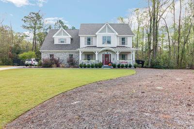 Hampstead Single Family Home For Sale: 172 Estuary Drive
