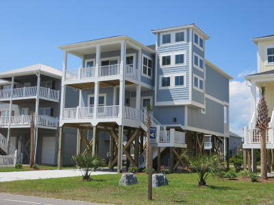 Oak Island Single Family Home For Sale: 1720 W Beach Drive