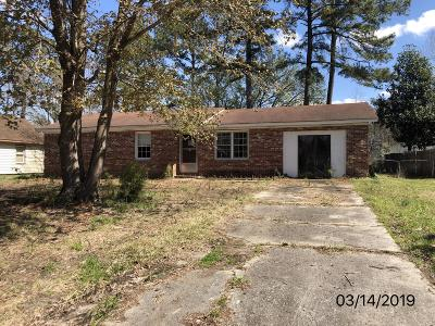 Onslow County Single Family Home Active Contingent: 424 Kenwood Drive