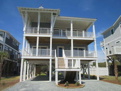 Oak Island Single Family Home For Sale: 7506 E Beach Drive