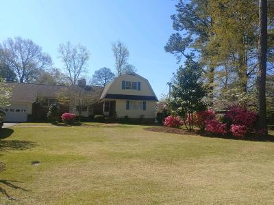 New Bern Single Family Home For Sale: 306 W Wilson Creek Drive