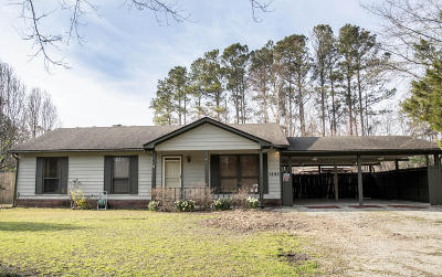 Onslow County Single Family Home For Sale: 1895 Rocky Run Road
