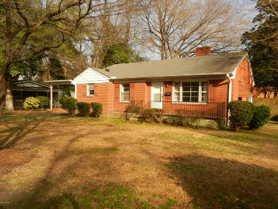 Greenville NC Single Family Home For Sale: $94,900