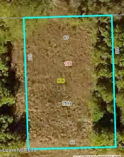 Beaufort NC Residential Lots & Land For Sale: $42,000