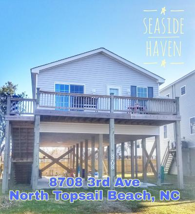 North Topsail Beach, Surf City, Topsail Beach Single Family Home For Sale: 8708 3rd Avenue