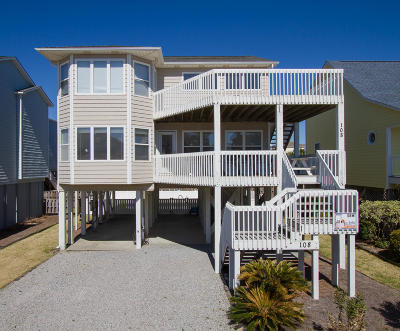 Ocean Isle Beach Single Family Home For Sale: 108 W First Street