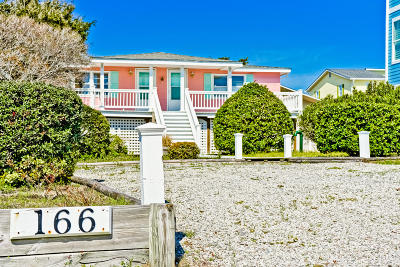 Holden Beach Island, Holden Beach Mainland Single Family Home For Sale: 166 Ocean Boulevard W
