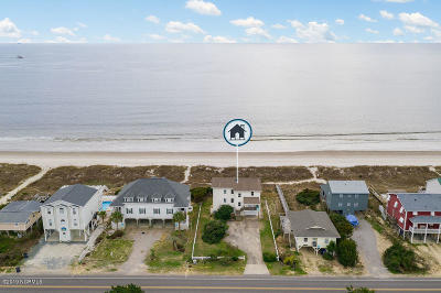 Oak Island Single Family Home For Sale: 1627 E Beach Drive