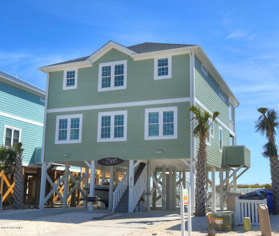 Oak Island Single Family Home For Sale: 2719 W Beach Drive