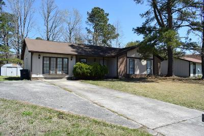 Jacksonville Single Family Home For Sale: 1003 Massey Road