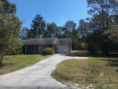 Onslow County Single Family Home Active Contingent: 549 Sand Ridge Road Road