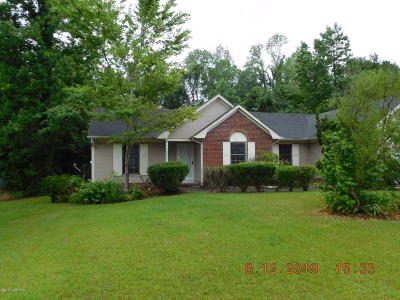 Onslow County Single Family Home For Sale: 138 Raintree Circle
