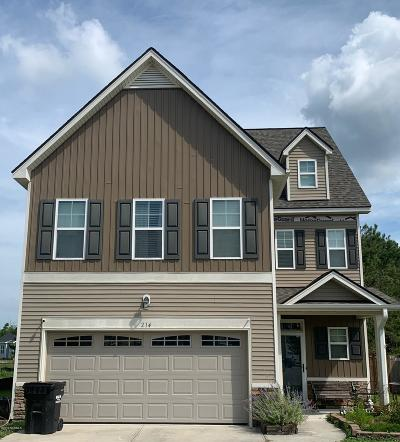 Sneads Ferry Single Family Home For Sale: 214 Long Pond Drive