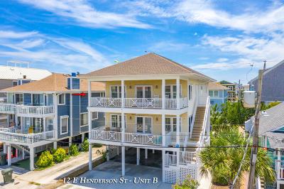 Wrightsville Beach Condo/Townhouse For Sale: 12 E Henderson Street #B