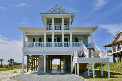 Holden Beach Island, Holden Beach Mainland Single Family Home For Sale: 1343 Ocean Boulevard W