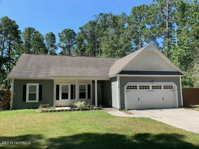 Sneads Ferry Single Family Home For Sale: 150 Scuba Drive