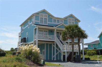 Holden Beach Single Family Home Sold: 383 Ocean Boulevard W