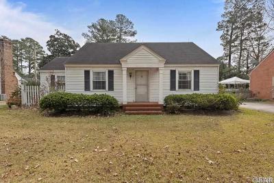 Elizabeth City Single Family Home For Sale: 1216 Crescent Drive