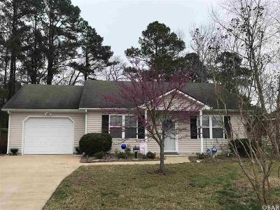Elizabeth City NC Single Family Home For Sale: $98,000