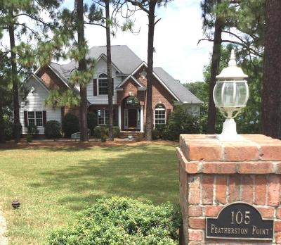 Moore County Single Family Home For Sale: 105 Featherston Point