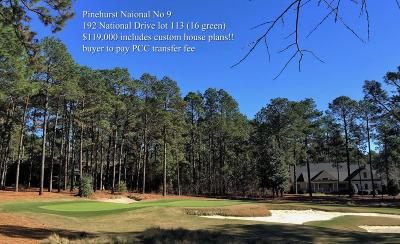 Pinehurst NC Residential Lots & Land Sold: $110,000