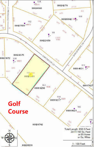 West End Residential Lots & Land Active/Contingent: 110 Dartmoor Lane