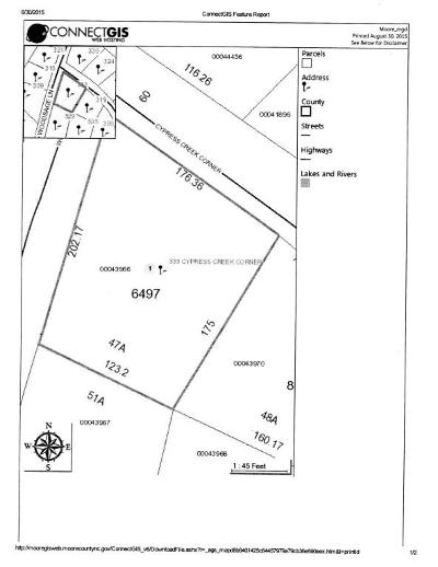 Vass Residential Lots & Land For Sale: 323 Cypress Creek Drive
