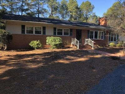 Whispering Pines NC Single Family Home Active/Contingent: $225,000