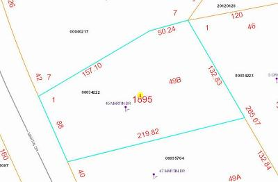 Whispering Pines Residential Lots & Land Active/Contingent: 45 Martin Dr