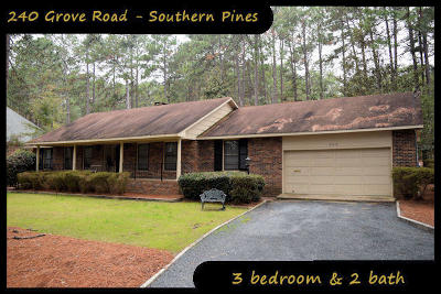 Moore County Rental For Rent: 240 Grove Road