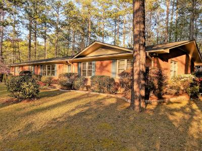 Southern Pines Single Family Home For Sale: 405 Hill Road