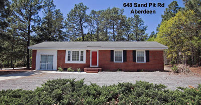 Aberdeen Single Family Home Active/Contingent: 648 Sand Pit Road