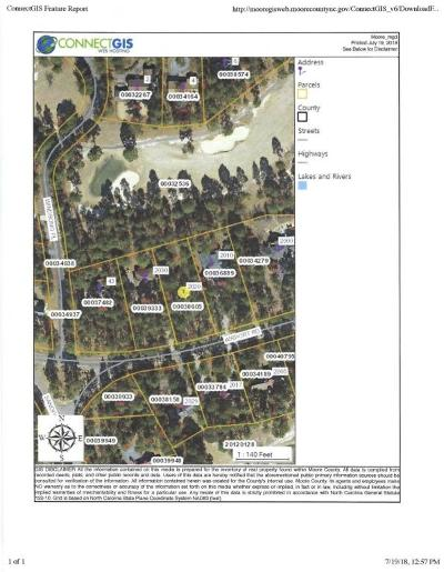 Whispering Pines Residential Lots & Land Active/Contingent: 2020 Airport Road