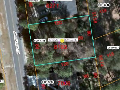 Pinehurst Residential Lots & Land Active/Contingent: 4305 Murdocksville Road