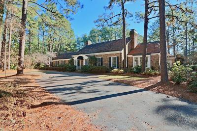 Pinehurst Single Family Home Active/Contingent: 595 Lake Dornoch Drive