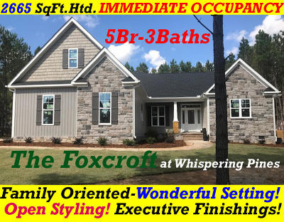 Whispering Pines Single Family Home For Sale: 260 Foxcroft