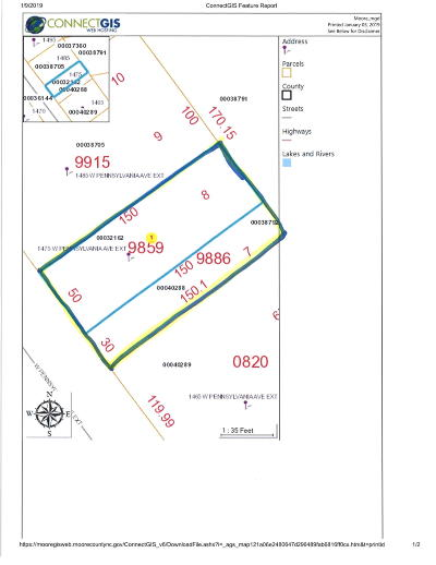 Southern Pines Residential Lots & Land Active/Contingent: 1475 W Pennsylvania Ext Avenue #Ext