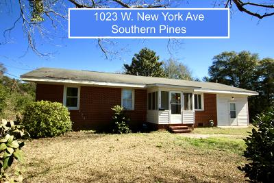 Southern Pines Single Family Home For Sale: 1023 W New York Avenue