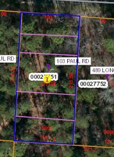 Residential Lots & Land For Sale: 103 Paul Road