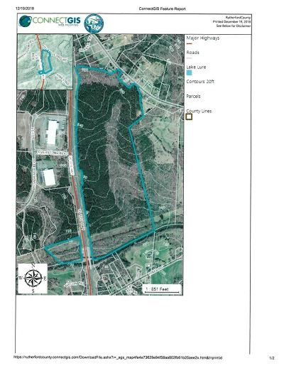 Rutherfordton, Bostic, Forest City, Spindale Residential Lots & Land For Sale: 190 Broad River Blvd