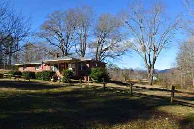 Rutherfordton Single Family Home Cont W/Due Diligence: 2395 Cove Road