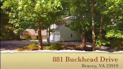 Bracey Single Family Home Under Contract/Pending: 881 Buckhead Drive