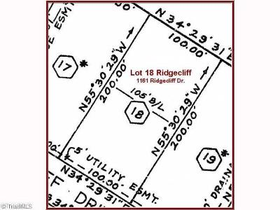 Rural Hall Residential Lots & Land For Sale: 1161 Ridgecliff Drive