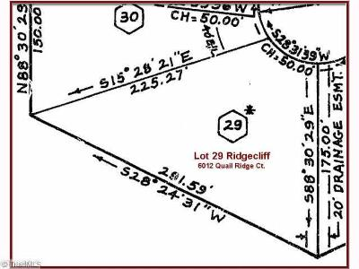 Rural Hall Residential Lots & Land For Sale: 6012 Quail Ridge Court